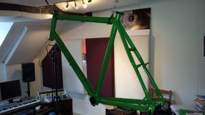 Tonstudio zur Fahrradwerkstatt umfunktioniert